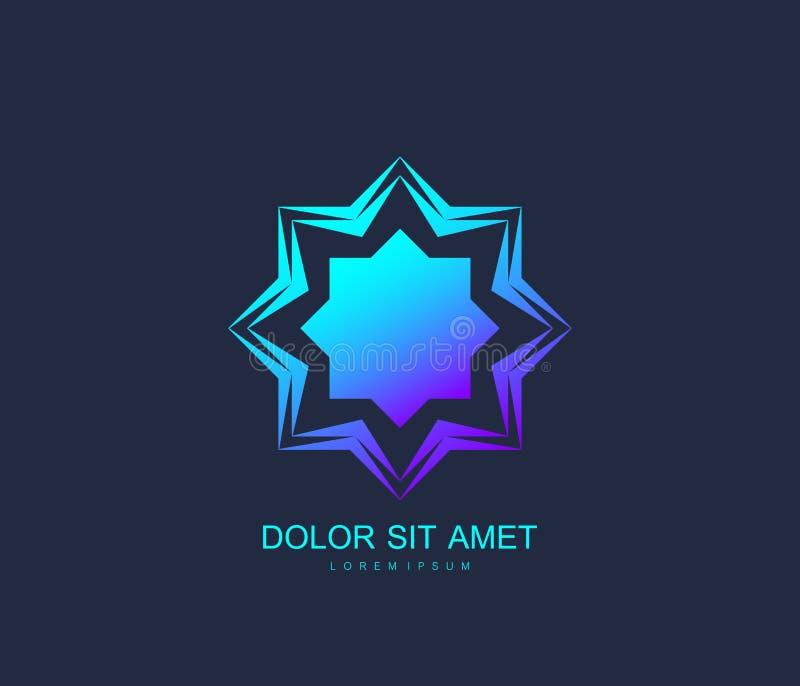 Арабский стиль шаблона дизайна логотипа вектора Абстрактный исламский символ Эмблема для роскошных продуктов, бутиков, ювелирных  бесплатная иллюстрация