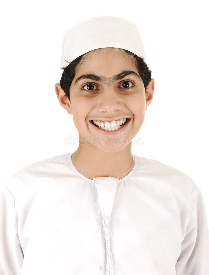 арабский усмехаться мальчика стоковое изображение rf