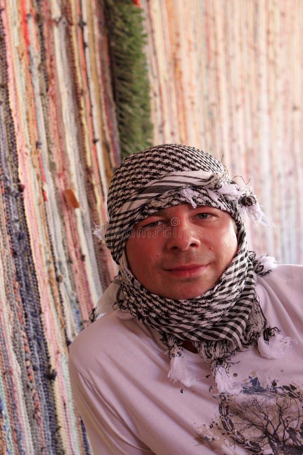 арабский человек kerchief стоковая фотография rf