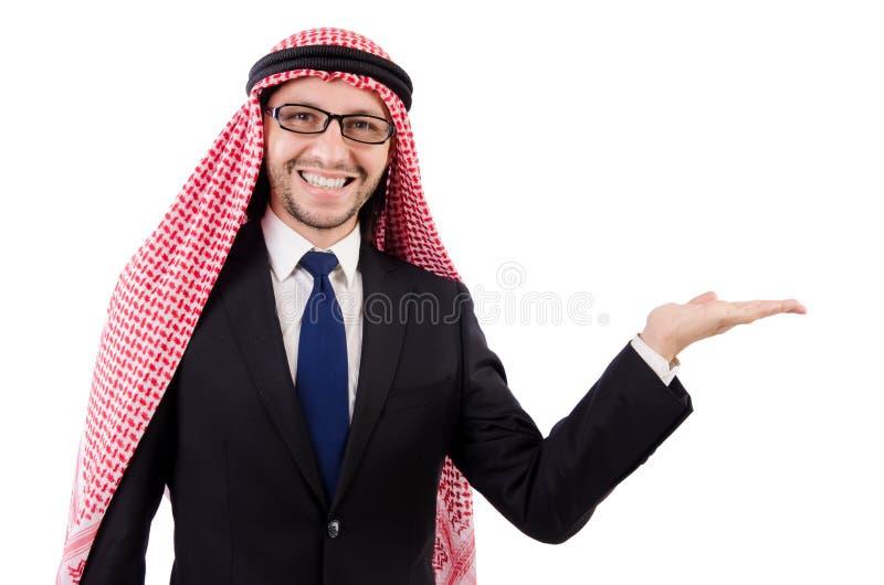 Арабский человек в спецификациях держа руки стоковые фотографии rf