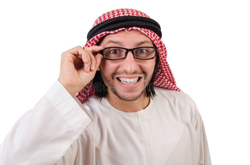 Арабский человек в спецификациях стоковые изображения rf