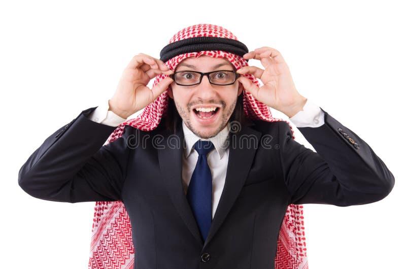Арабский человек в спецификациях стоковые фотографии rf