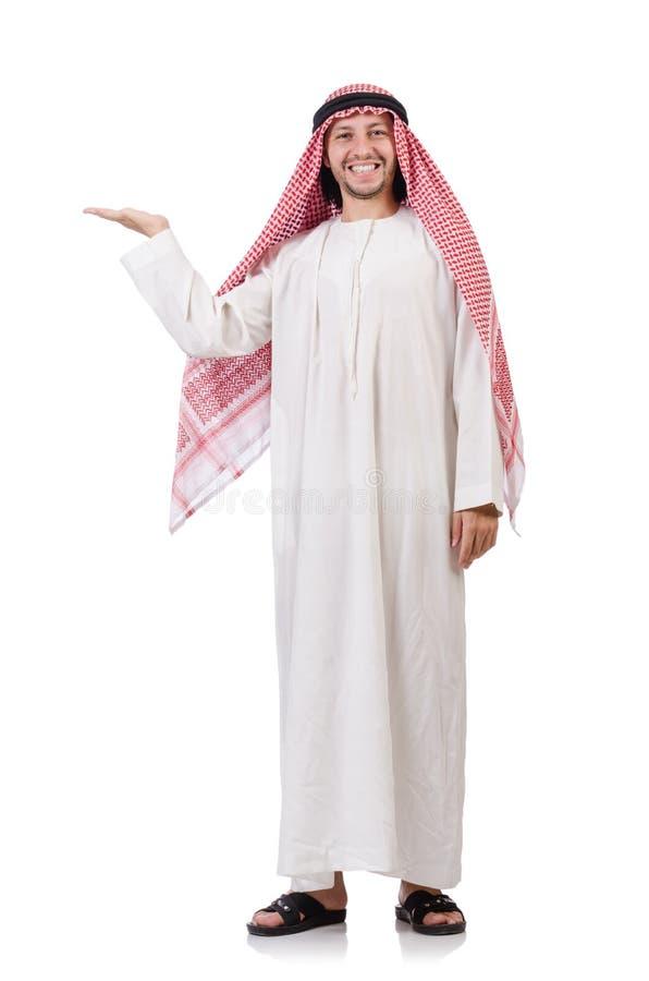 Арабский человек держа руки изолированный стоковые изображения