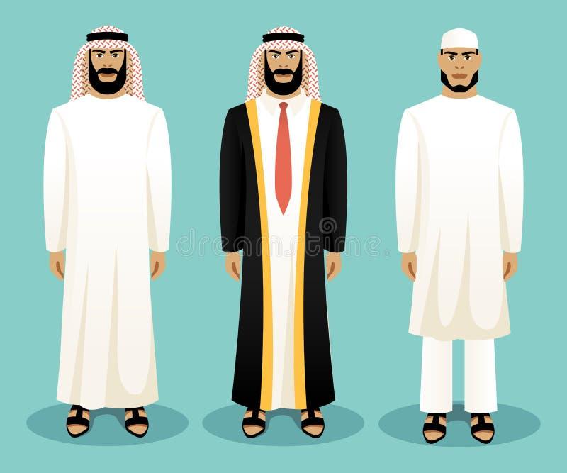 Арабский человек нося традиционную одежду бесплатная иллюстрация