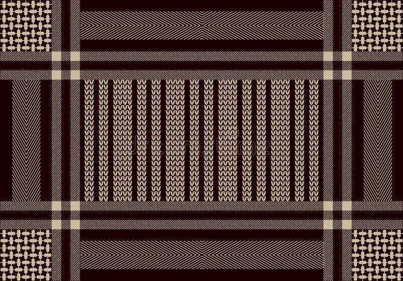 Арабский шарф хлопка с мотивами и нашивками контраста геометрическими бесплатная иллюстрация