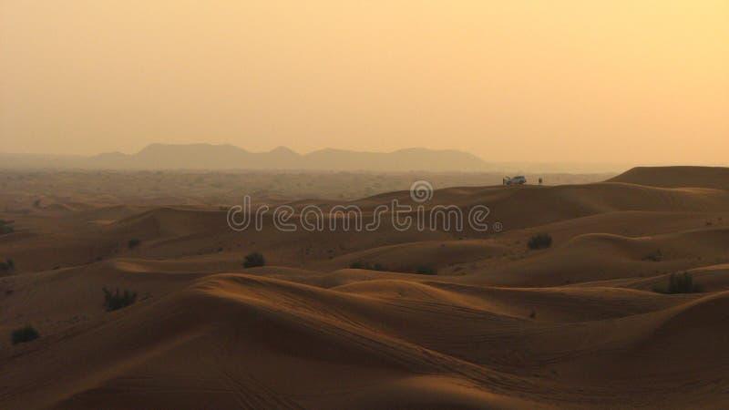 арабское соединенное сафари эмиратов пустыни стоковое изображение rf