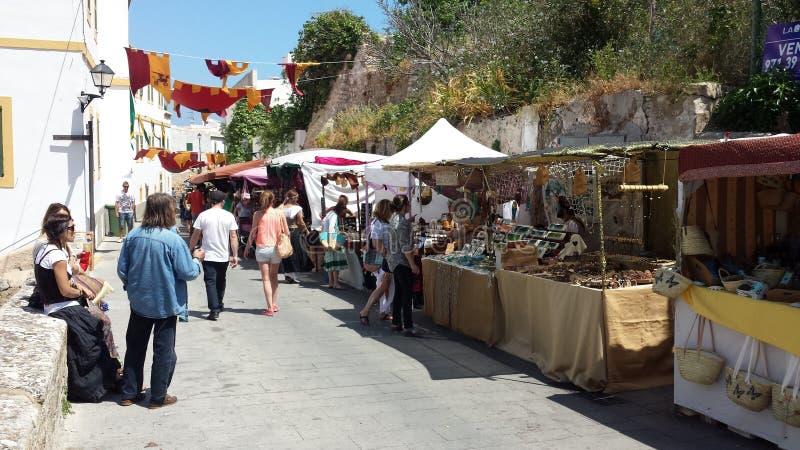 Араб выходит Ibiza вышед на рынок на рынок Испанию стоковые изображения