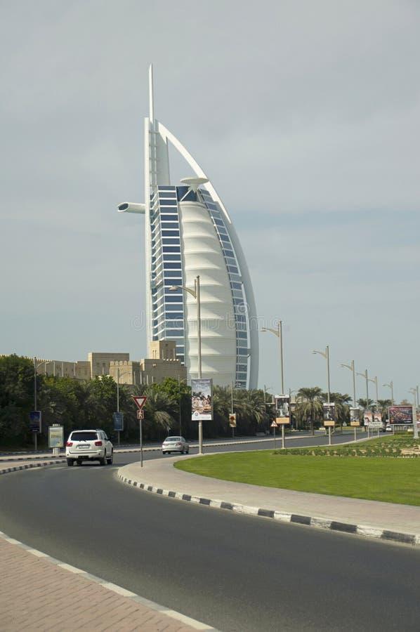 Араб Al Burj, башня арабов, роскошная гостиница расположенная в Дубай, Объединенных эмиратах стоковые фотографии rf