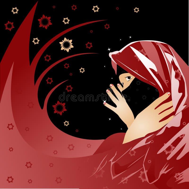 аравийская женщина иллюстрация штока
