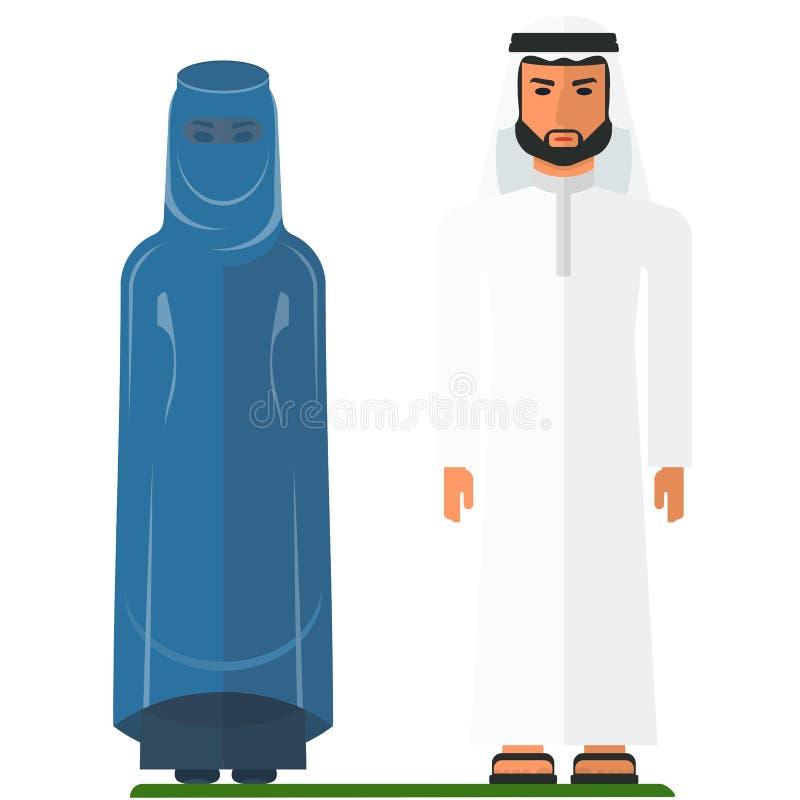 Аравийские люди в традиционных одеждах бесплатная иллюстрация