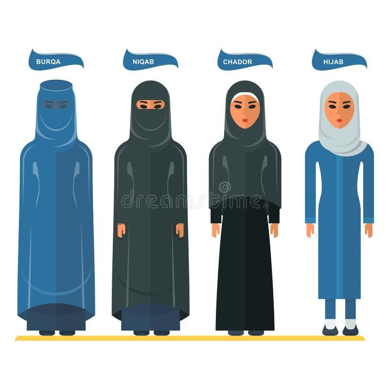 Аравийский головной платок женщины иллюстрация штока