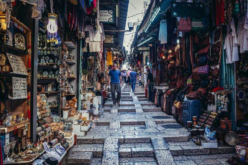 Аравийский рынок в Иерусалиме стоковые изображения rf
