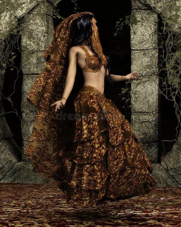 аравийский танцор иллюстрация штока