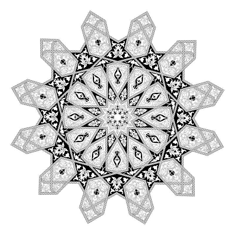 Аравийский флористический мотив картины иллюстрация штока