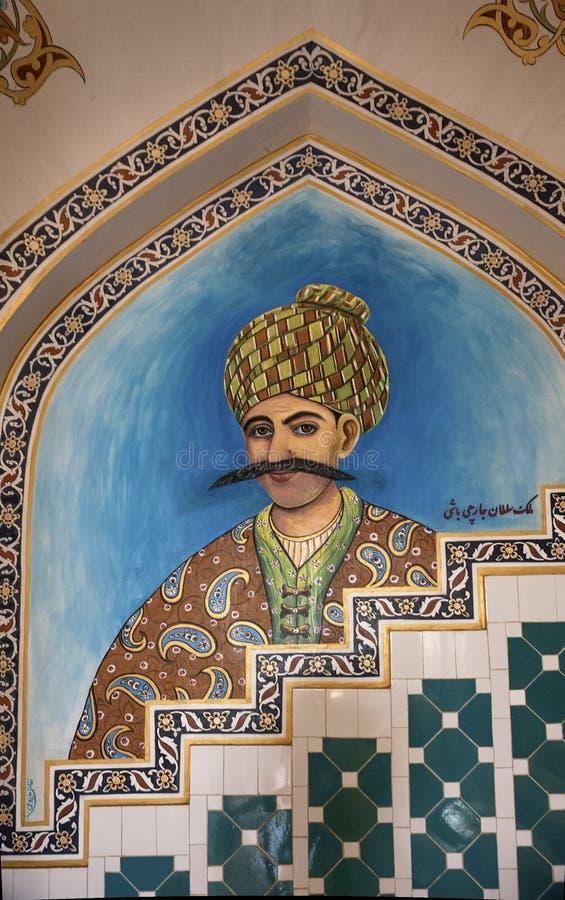 Аравийский человек сделанный из керамических плиток стоковые изображения rf