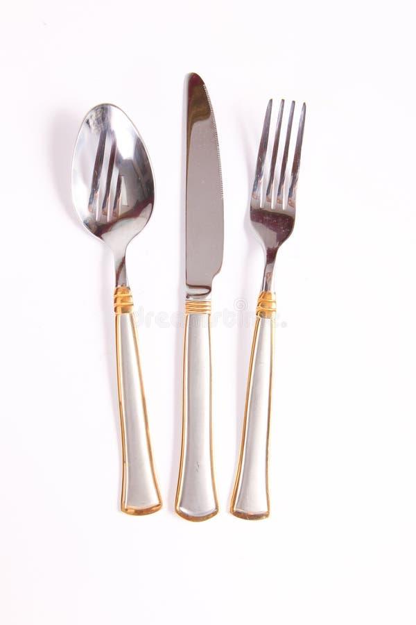 Аранжированный обедающ инструменты стоковое фото rf