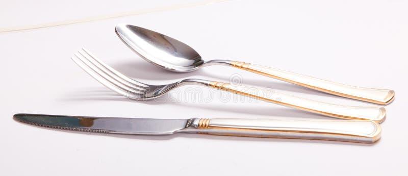 Аранжированный обедающ инструменты стоковые изображения rf