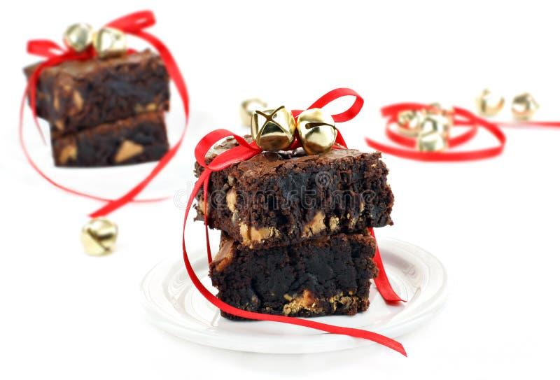 арахис fudge шоколада масла пирожнй стоковое изображение