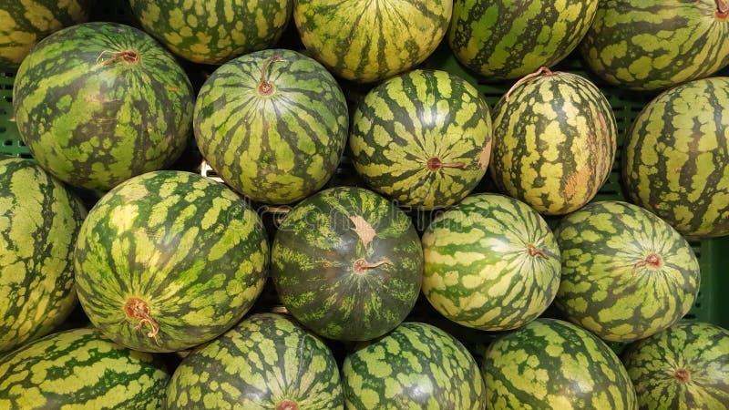 Арбуз Магазин фрукта и овоща арбузы стоковое изображение