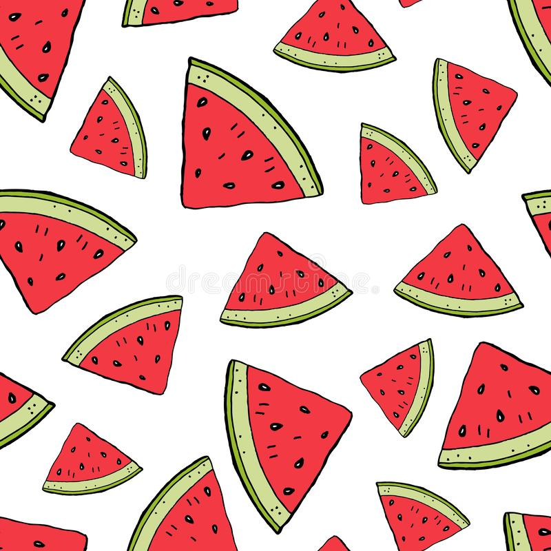 Watermelon red slice royalty free illustration