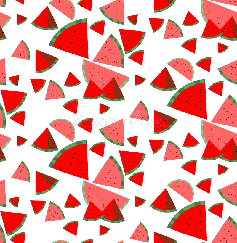 Seamless pattern.Watermelon flesh. abstract .Trendy Graphic Design for banner, poster, card, cover, invitation, pla royalty free illustration
