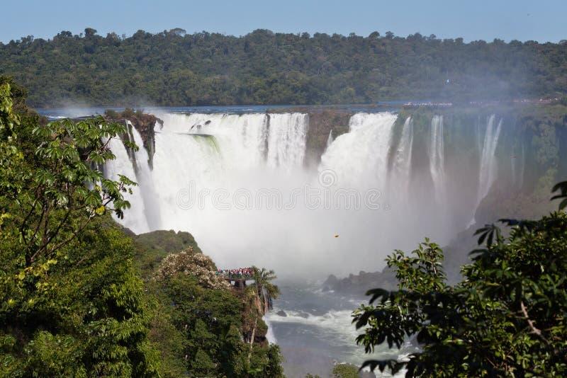 Аргентина Бразилия делает iguassu foz стоковая фотография