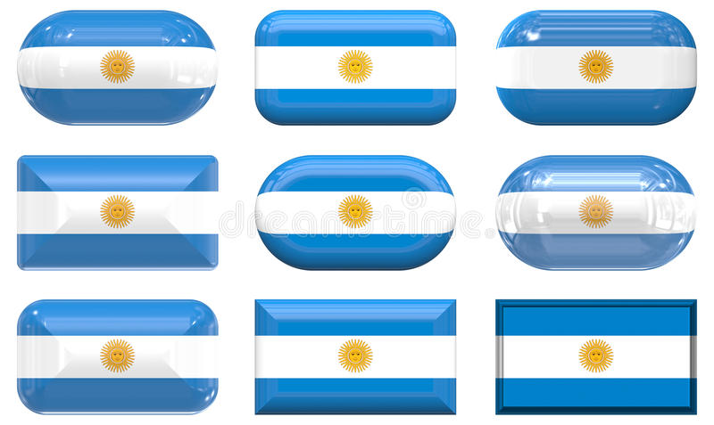 Аргентина застегивает стекло 9 флага бесплатная иллюстрация