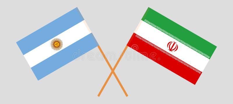 Аргентина и Иран Аргентинские и иранские флаги E r r бесплатная иллюстрация