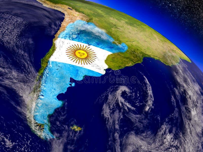 Download Аргентина с врезанным флагом на земле Иллюстрация штока - иллюстрации насчитывающей environment, климат: 81804731