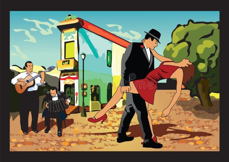 аргентинское танго иллюстрация вектора