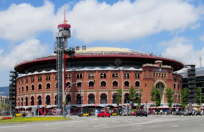 Арена аринов Les на площади Espanya, Барселоне стоковое фото