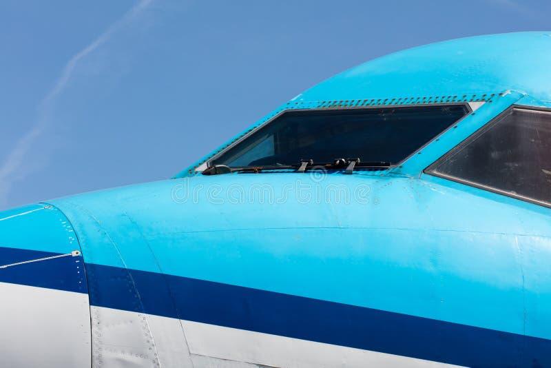 Арена близкая вверх самолета двигателя стоковое изображение rf