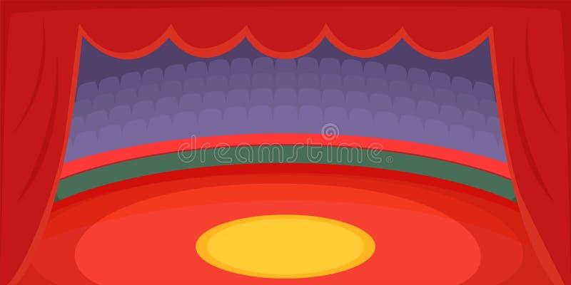 Арена знамени цирка горизонтальная, стиль шаржа иллюстрация вектора