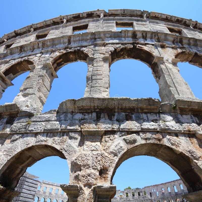 Download Арена пул, Хорватия стоковое изображение. изображение насчитывающей римско - 37929635