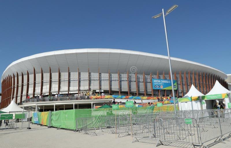 Арена 3 Carioca на олимпийском парке в Рио-де-Жанейро стоковое изображение