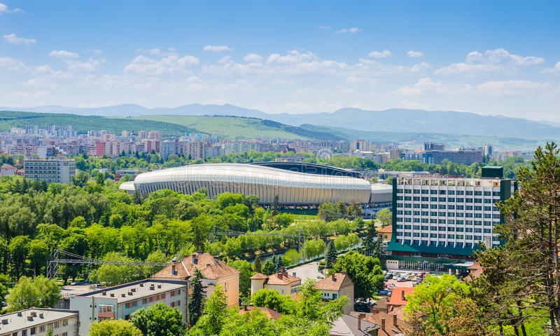 Арена Stadiun Cluj в городе Cluj Napoca стоковое фото rf