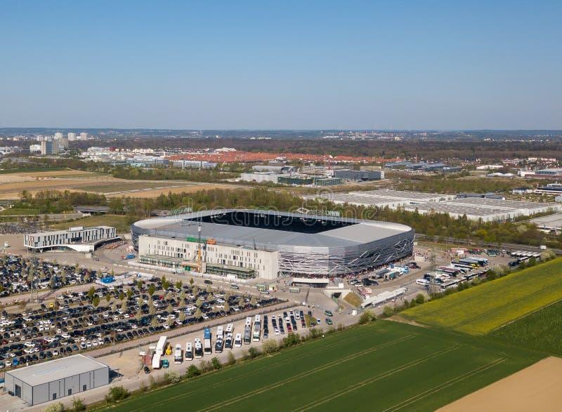 Арена WWK - официальный футбольный стадион FC Augsburg стоковые изображения