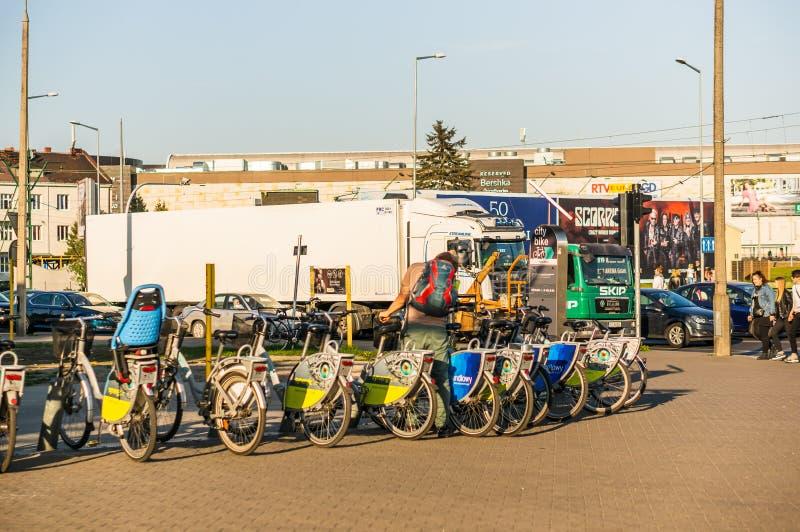 Арендные велосипеды стоковые фото
