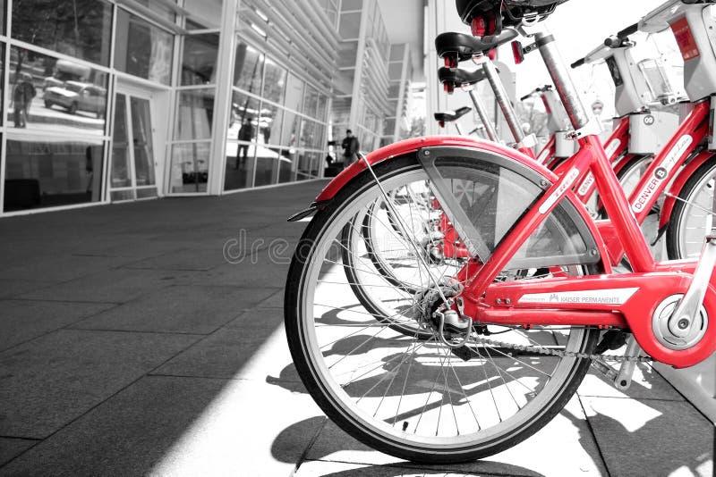 Арендные велосипеды стоковые фотографии rf