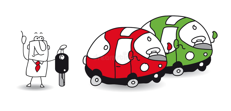 Арендуйте автомобиль бесплатная иллюстрация