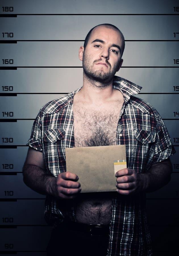 арестованное фото человека стоковое фото