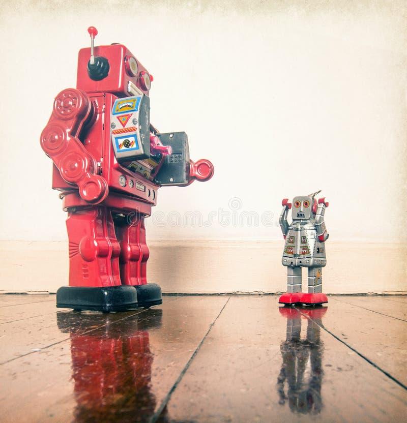 Арест полисмена Robo стоковые фотографии rf