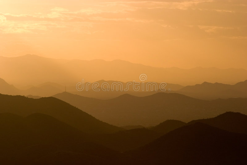 Аризона наслаивает горы стоковые фото