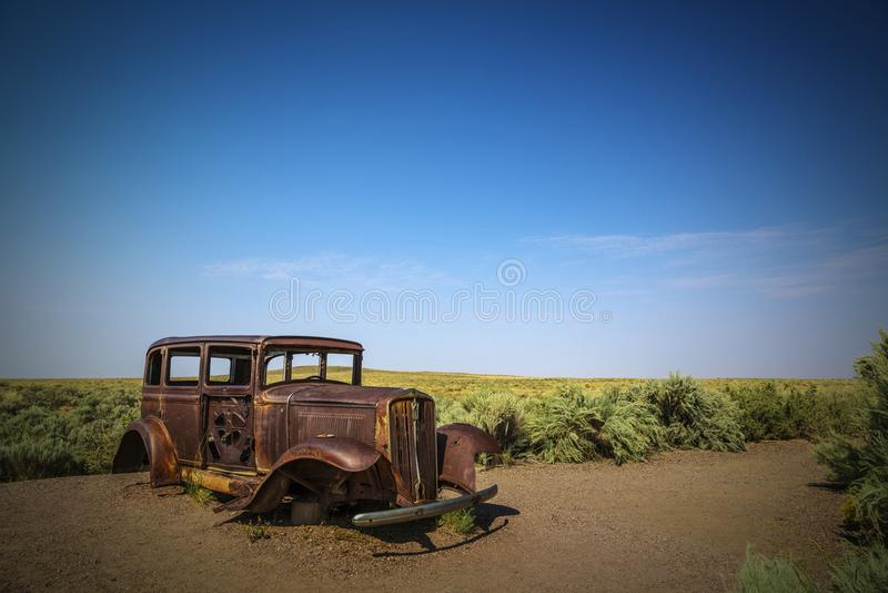 Аризона США 5-ое сентября 2017: Известные и исторические 32 Studebake стоковые изображения rf