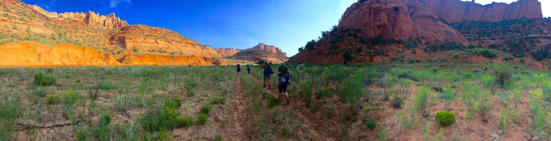 Аризона Keet Seel поход стоковые изображения rf