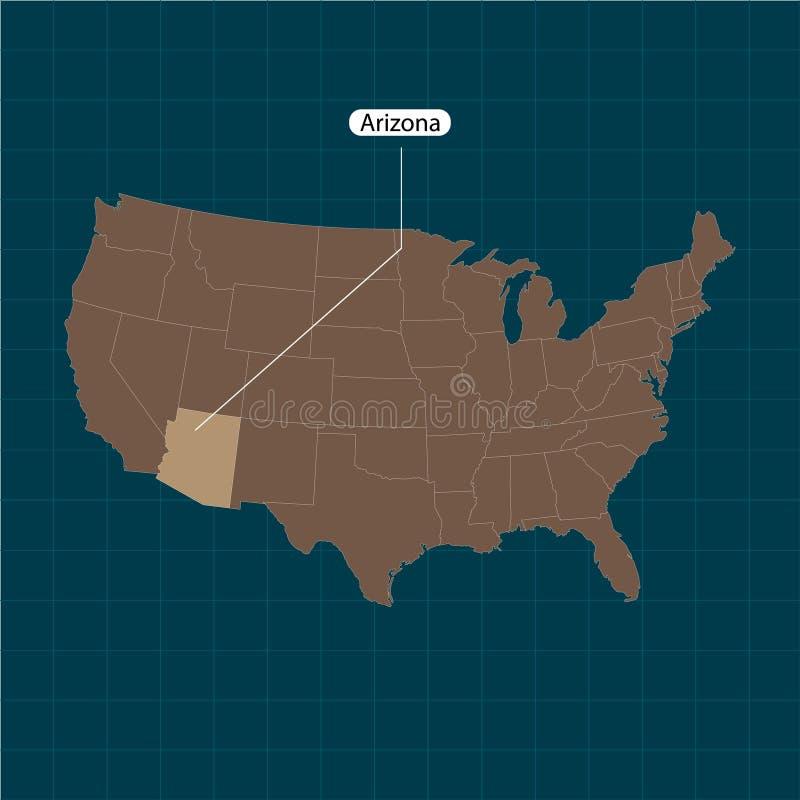 аристочратов Государства территории Америки на темной предпосылке Отдельное государство также вектор иллюстрации притяжки corel иллюстрация вектора