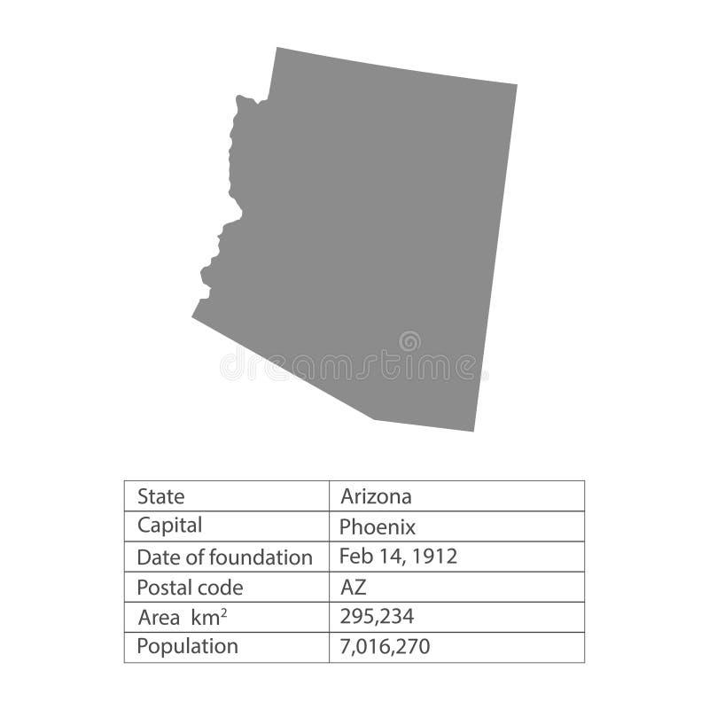 аристочратов Положения территории Америки на белой предпосылке Отдельное государство также вектор иллюстрации притяжки corel бесплатная иллюстрация