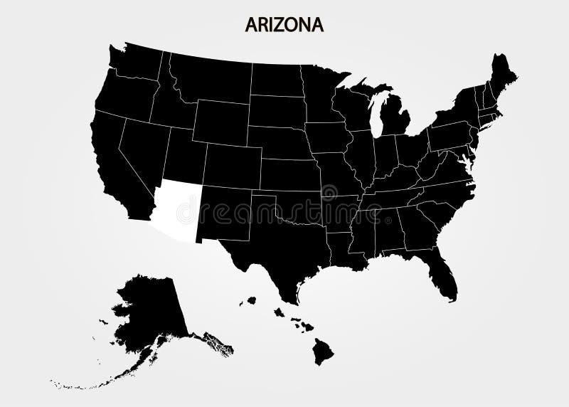 аристочратов Положения территории Америки на серой предпосылке Отдельное государство также вектор иллюстрации притяжки corel иллюстрация вектора