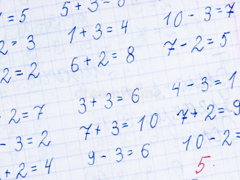 арифметическая предпосылка стоковая фотография rf