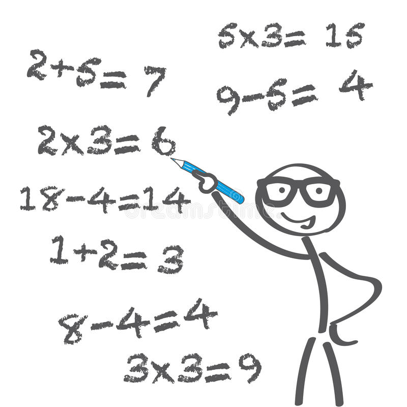 Арифметическая проблема бесплатная иллюстрация